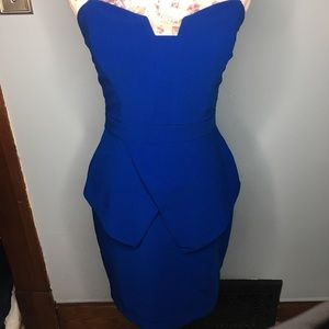Royal blue ADELYN RAE strapless dress size XS